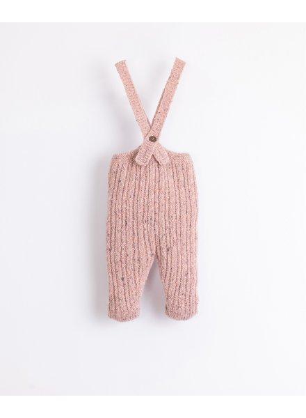 Knitted broekje met bretellen | Cor de Rosa