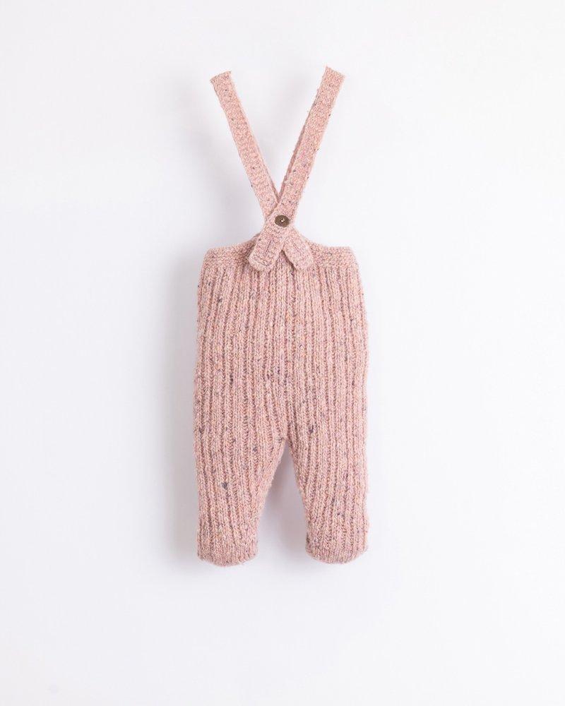 Knitted broekje met bretellen   Cor de Rosa