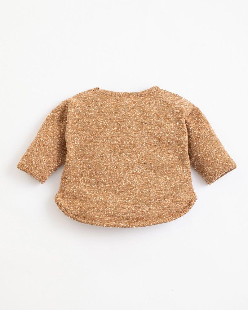 Gespikkelde sweater met recycled vezels   Far