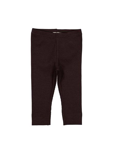 MarMar Legging | Modal rib | Dark Chocolate