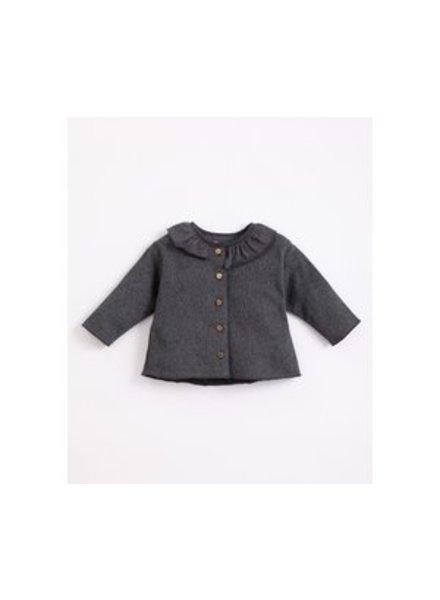 Jersey cardigan met frill | Frame melange