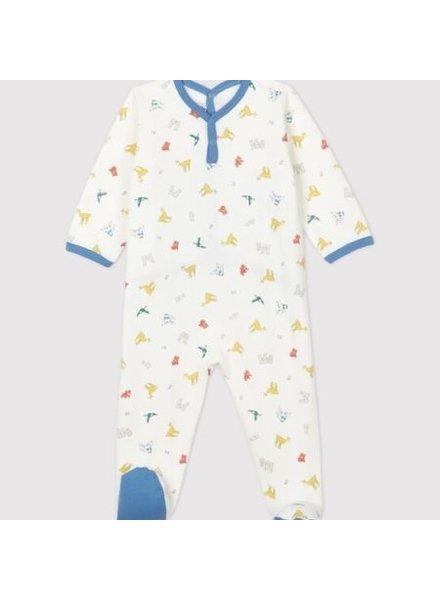 Petit Bateau Pyjama met voetjes | Dierenprint