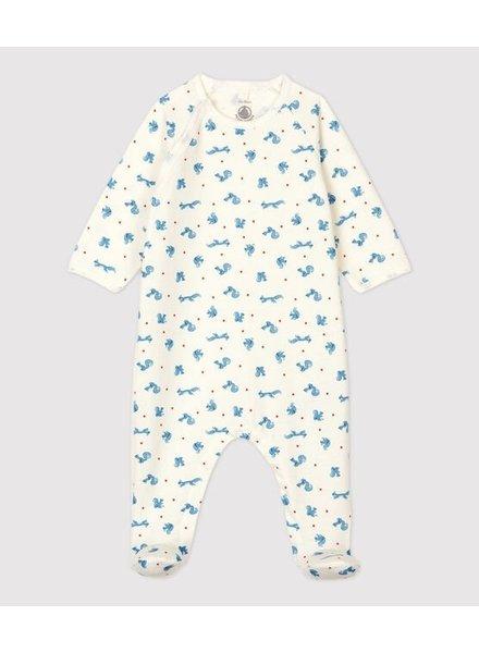 Petit Bateau Pyjama met molton + voetjes | Eekhoornprint