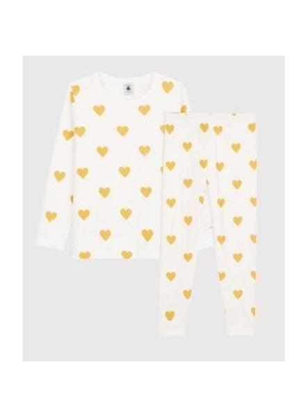 Petit Bateau Pyjama met gele hartjes