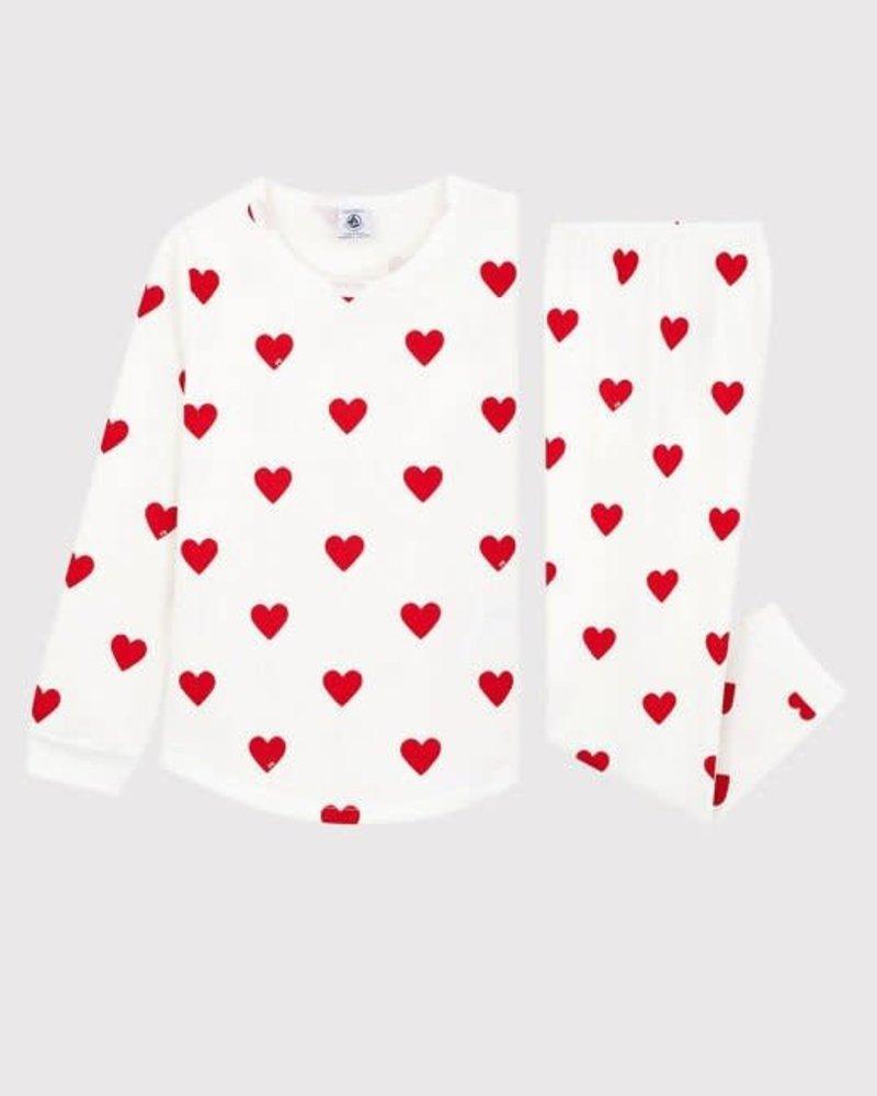 Petit Bateau Pyjama met hartjes