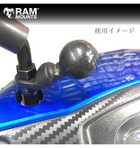 "RAM Mounts RAM BASE W/ 9 MM HOLE AND 1"" BALL MIRROR"