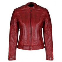 Valerie Leather Jacket Red