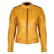 Valerie Leather Jacket Yellow