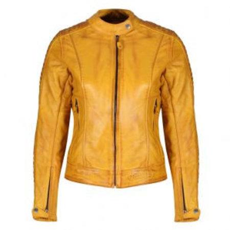 Motogirl Valerie Leather Jacket Yellow