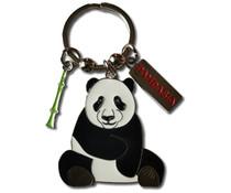 Pandasia Metalen sleutelhanger met panda.