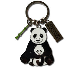 Ouwehand Metal key ring panda with cub