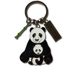 Ouwehand Metalen sleutelhanger panda met jong