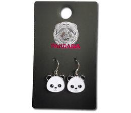 Pandasia Panda Ohrringe silberfarben