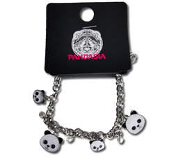 Pandasia Panda Bettelarmband silberfarben