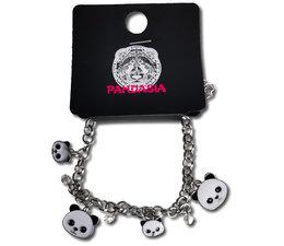 Pandasia Panda charm bracelet silver colored