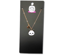 Pandasia Panda necklace gold colored
