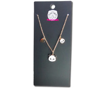 Pandasia Panda charm necklace silver colored