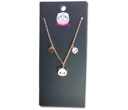 Pandasia  Panda charm necklace silver colored
