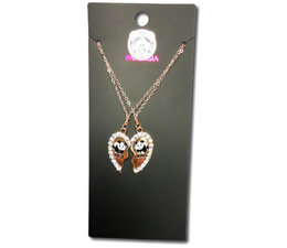 Pandasia  Panda necklace gold colored 'Best friends'