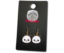 Pandasia Panda drop earrings gold colored