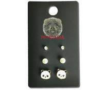 Pandasia Panda stud earrings gold colored