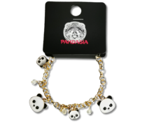 Pandasia Panda charm bracelet gold colored