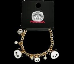 Pandasia Panda Charm Armband goldfarben