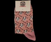 Pandasia Panda sokken roze met panda's