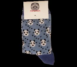 Pandasia Panda sokken blauw met panda's