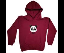Panda kinder hoodie maroon