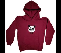 Panda kids hoodie maroon