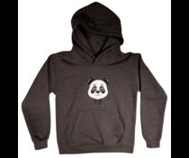 Panda kids hoodie charqoal