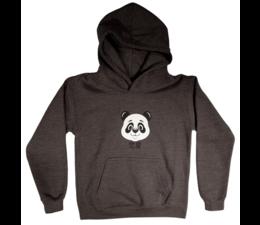 Pandasia Panda kids hoodie charqoal