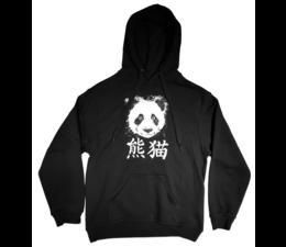 Panda Erwachsenen Hoodie schwarz