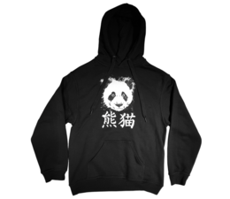 Pandasia Panda Erwachsenen Hoodie schwarz