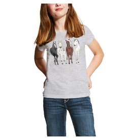 Ariat ARIAT GIRLS 360 VIEW TEE HEATHER GRAY