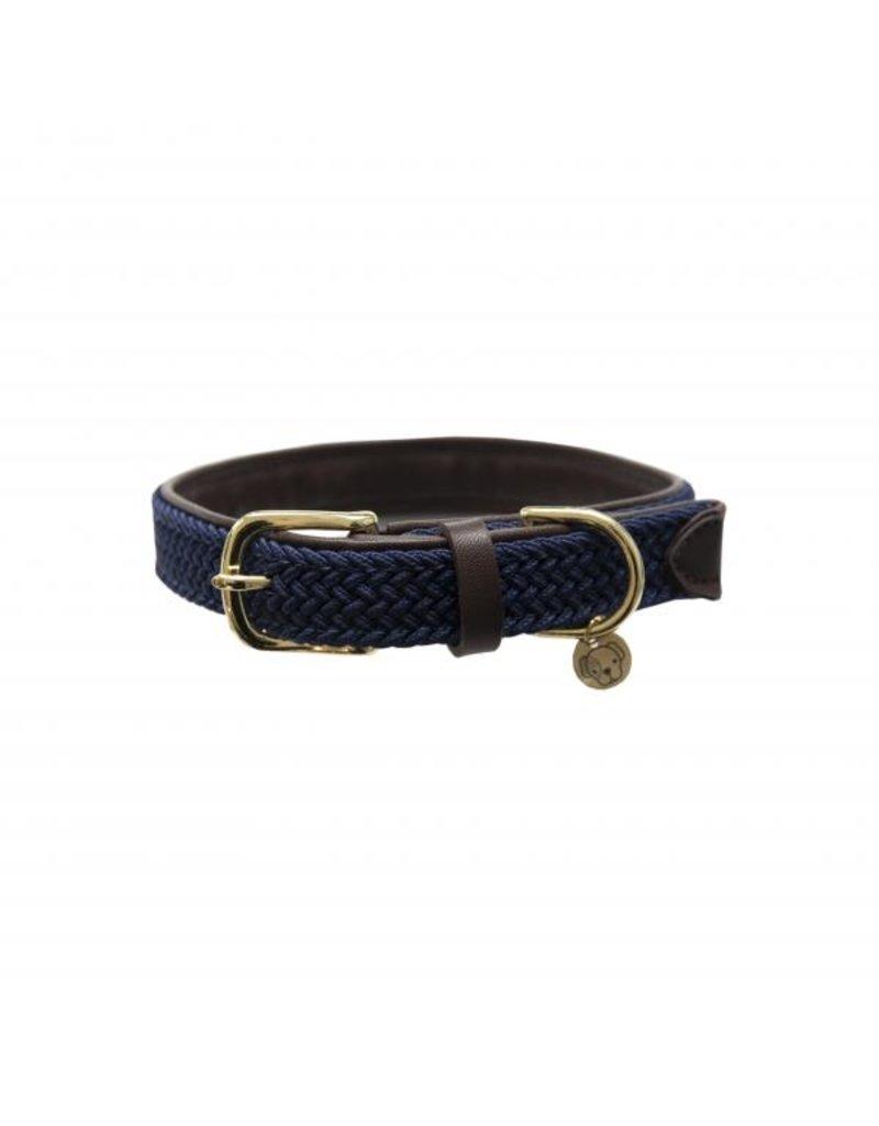 Kentucky Horsewear Kentucky gevlochten hondenhalsband Navy