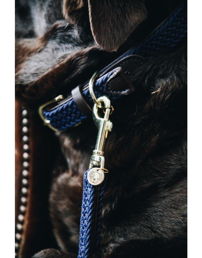 Kentucky Horsewear Kentucky gevlochten hondenlijn navy