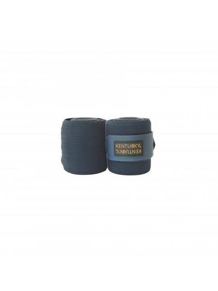 Kentucky Horsewear Kentucky Polar fleece & elastiek bandages donkerblauw