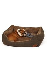 51 Degrees Hondenmand Herringbone - Softbed - Brown/Black - L: 90x70cm