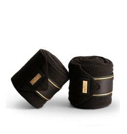 Equestrian Stockholm Equestrian Stockholm Fleece Bandages Black Gold