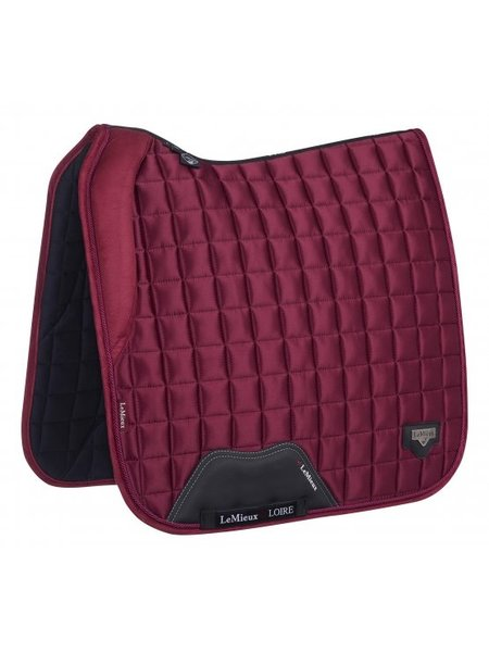 LeMieux LMX loire Memory Satin Dressuur Square Mulberry Red Full