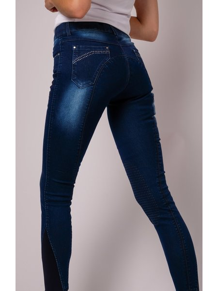 Montar Montar Rebel Rijbroek Lina denim crystal pocket F/G