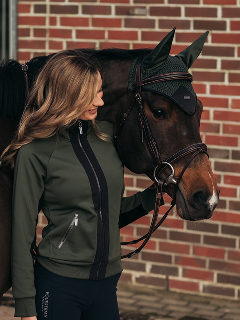 Equestrian Stockholm Equestrian Stockholm Bounded Fleece jacket Deep Olivine