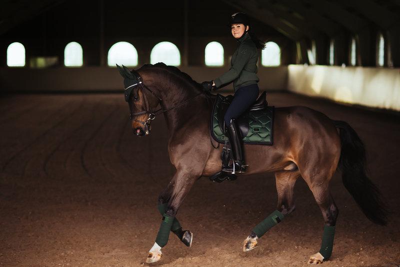 Equestrian Stockholm Equestrian Stockholm Dressuur zadeldekje Deep Olivine