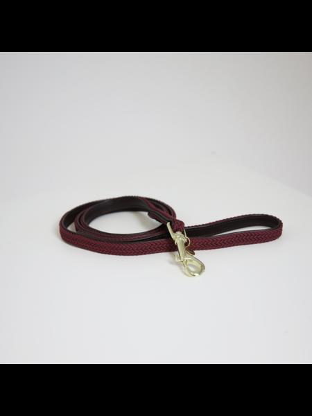 Kentucky Horsewear Kentucky Hondenlijn gevlochten nylon bordeaux 120cm