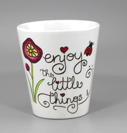 "Ceramic mug ""Enjoy the little things"""