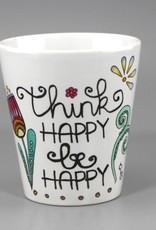 "Tasse ""Think happy"""