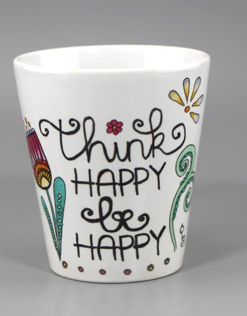 "Ceramic mug ""Think happy"""