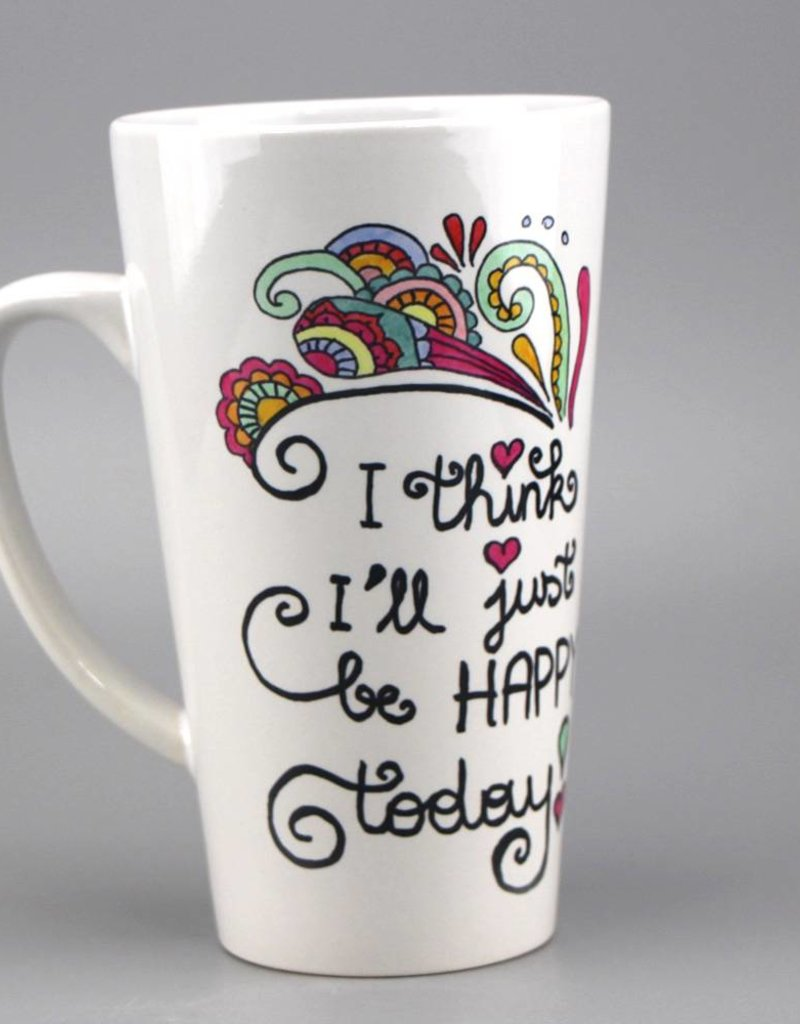 "Ceramic mug big ""Happy today"""